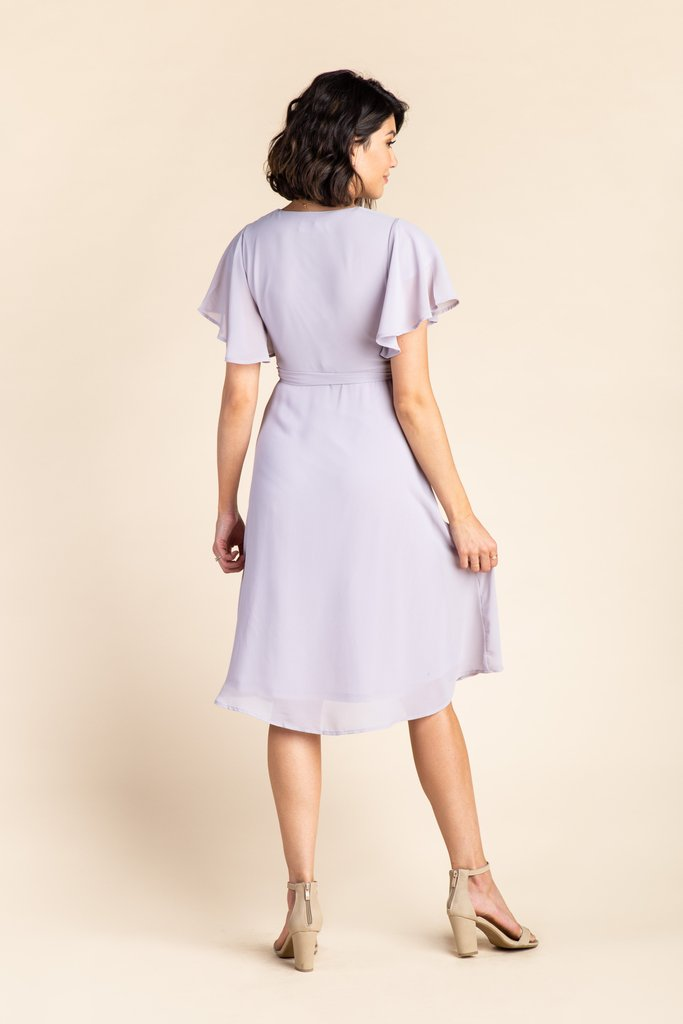 Vienna Flutter Sleeve Wrap Dress - S&B WOMEN'S DRESS Susanhayrethelwell