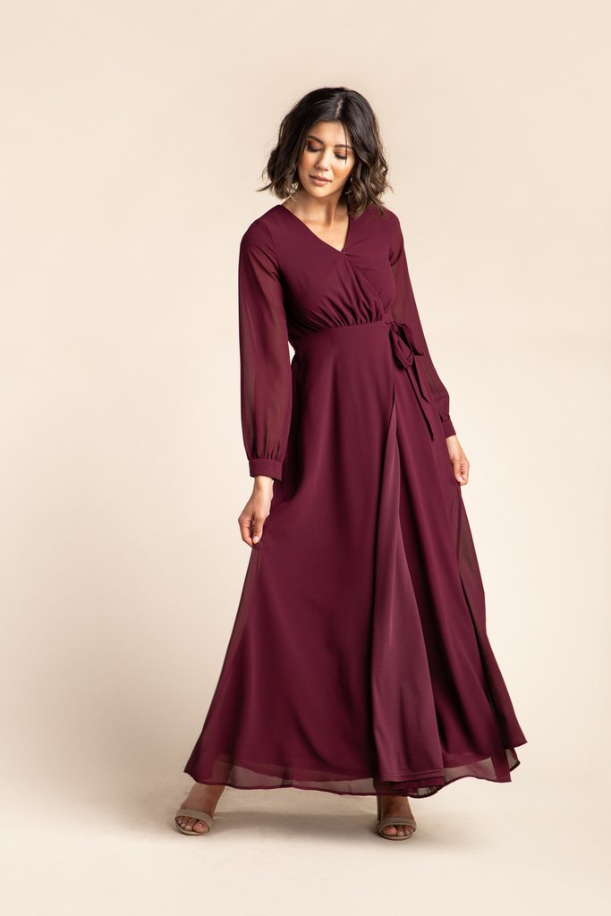 Tennyson Wrap Maxi 2.0 WOMEN'S DRESS Arbor L Wine